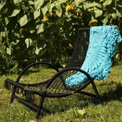 Плетеное кресло шезлонг BA 1008.1 blk