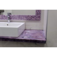 Комплект для ванной комнаты из искусственного полудрагоценного камня.Чароит