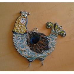 Ключница-вешалка Птица Сирин.